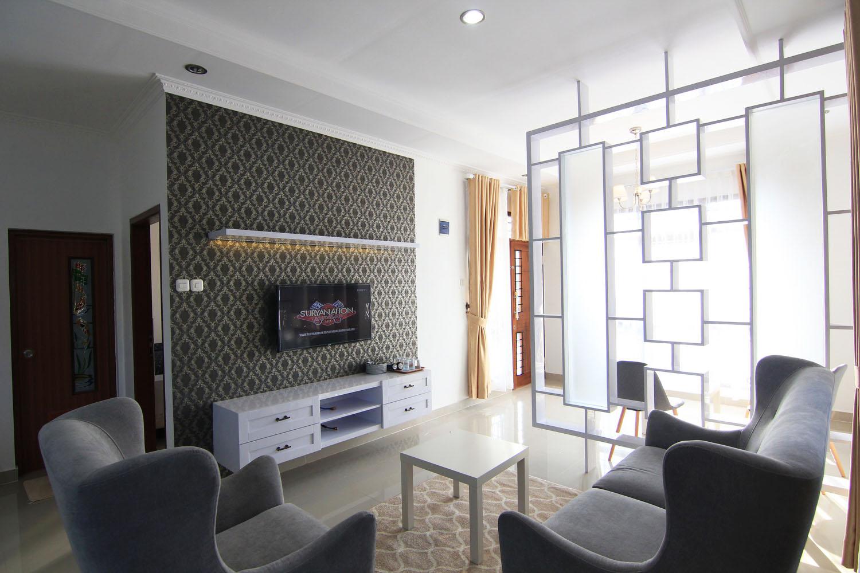 Desain Interior Rumah Tinggal Tema Retro